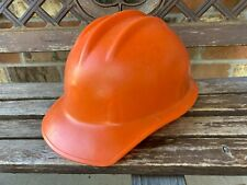Vintage 70s Ed Bullard Hard Boiled Hard Hat Orange Withsuspension