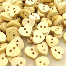 10/50/100pcs 12mm Love Heart Wood Buttons Sewing appliques Kid's DIY Lots WB245