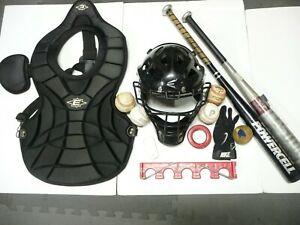 Lot of (12) Easton Baseball Catchers Equipment & Things Set Adult