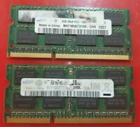 SAMSUNG 2x 2GB= 4GB RAM MEMORY DDR3 - 2Rx8 PC3-10600S  M471B5773CHS-CH9 sony hp
