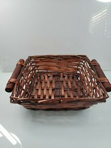 Asian Style Red Bamboo Basket