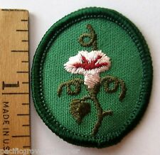 Retired  Oval 1978-2011 Girl Scout MORNING GLORY TROOP CREST Flower Patch