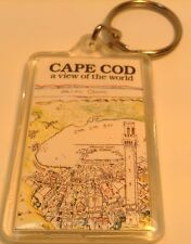 Colorful  keychain CAPE COD ~ A VIEW OF THE WORLD Porte-Cles CAPE COD BAY