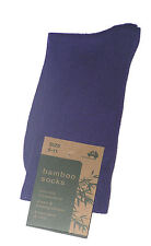 3 PAIRS SZ 3-8 AUSTRALIAN MADE LADIES PURPLE BAMBOO DRESS SOCKS