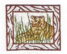 Jungle Tiger Safari Savanah Embroidery Applique Patch