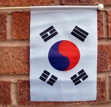 "SOUTH KOREA HAND WAVING FLAG medium 9"" X 6"" wooden pole flags KOREAN SEOUL"