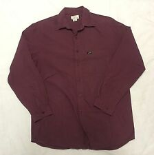 Guess Mens Shirt Small Maroon Long Sleeve Button Up