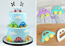 New Hot 2pcs Car Cutter sugarpaste Shower Cake Cupcake Gumpaste Topper Tool