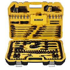 DEWALT 176-Piece Mechanics Tool Set, Black Chrome Finish / Laser Etched - New