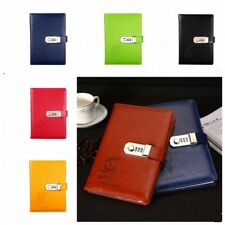 A5 Vintage PU Leather Diary Journal Note Book With Combination Lock