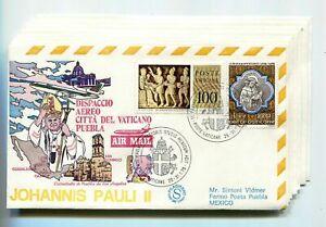 S11409) Vatican 1979 FDC Visit Pope John Paul II - Mexico (8 Envelopes)