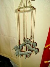 Old Vintage Unicorn Mobile Collectible Fantasy Mythical Magic Metal Chimes