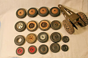 LOT OF 20 TOY CAR TRUCK AIRPLANE WHEEL FOR PARTS