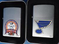 ZIPPO LIGHTER LOT ST LOUIS BLUES 2005 NHL HOCKEY STANLEY CUP 2002 FAN GIFT NEW
