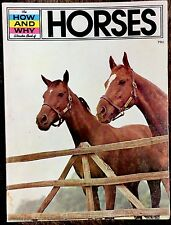 HOW AND WHY WONDER Book of HORSES ~ Children's 1970's Educational Book