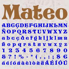 ALFABETO MATEO LETRAS A ELEGIR 12cm MADERA DM 4mm MDF WOODEN LETTERS DECOUPAGE