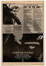 Marianne Faithfull A Child's Adventure Advert NME Cutting 1983