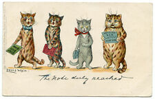 """Louis Wain Cat  #539 II """"The Note Duly Reached"""" Cats Singing"""