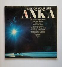 Paul Anka Times Of Your Life Vintage Vinyl LP VG Record Album UA-LA569-G 1975