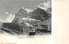 JUNGFRAU MIT EIGER SWITZERLAND TRAIN RAILROAD POSTCARD (c. 1900)