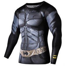 Batman 3D Print Compression Quick Dry Long Sleeve Workout Tee Adult XXL