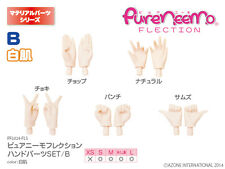 Azone Pure Neemo S-L OP Parts Set B White Skin Hand Parts for Azone S-L Body
