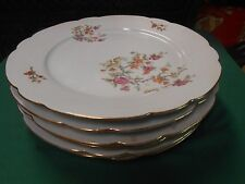 Beautiful RARE Set 6 DINNER Plates-Floral Design  KAHLA China from East Germany