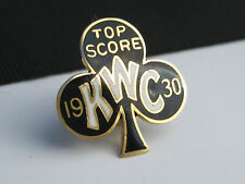 Antique Knights of the White Cross KWC Solid 12K Yellow Gold & Enamel Clover Pin
