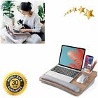 """Lap Desk for Laptop Fits up to 15.6"""" Bed Couch Cushion Big Storage Wrist Pad"""