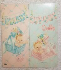Vtg Original 1953 Lullaby Pre Cut-Out Paper Dolls Whitman Publishing Incomplete