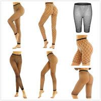Women Transparent Hot Pants Fishnet Lace Leggings Sheer Mesh Tight Trousers Club