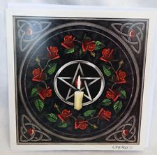 Lisa Parker Greetings Card - Pentagram, Roses and Candle Design - BNIB