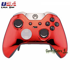 Customized Chrome Red Replacement Part Front Shell for Xbox One Elite Controller