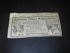 Magazine Print Ad 1912 Adams Furniture Toronto ON Arm Chairs