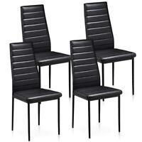 4 x Sillas Comedor Elegantes de Diseño Modernas Cocina - Negras