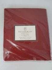 Pottery Barn Outlet Red Sailcloth Drape Cotton 44 x 84 Tab Top Curtain Panel