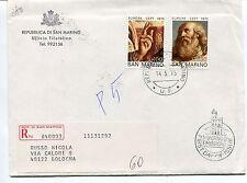 1975 FDC San Marino Europa Dipinto del Guericino RACCOMANDATA First Day Cover