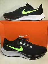 Nike Mens Size 13 Air Zoom Pegasus 37 Black Lime Athletic Running Shoes ZD-437