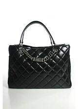 Chanel Black Quilted Aged Calfskin ID Chain Shopper Tote Handbag