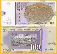 Macedonia 100 Denari p-16k 2013 UNC Banknote