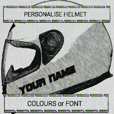 2 x MOTORBIKE NAME STICKERS HELMET PERSONALISE MOTORCYCLE STICKERS DECALS r125 6