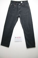 Levi's 505 coupe regular noir Cod.Y1075 Tg.47 W33 L30 jeans d'occassion