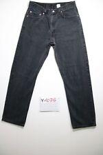 Levi's 505 regular fit negro (Cod.Y1075) Tg.47 W33 L30 vaqueros usados boyfriend
