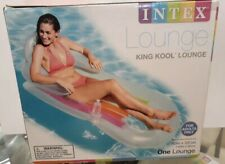 New Intex King Cool float clear muti color
