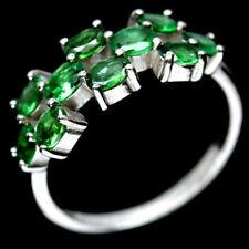 TOP COLOR TSAVORITE RING : Natürliche Grün Tsavolith Granat Ring Gr. 17,75 R181