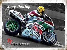Joey Dunlop TT Champion Isle Of Man Race Honda Motorbike Small Metal/Tin Sign