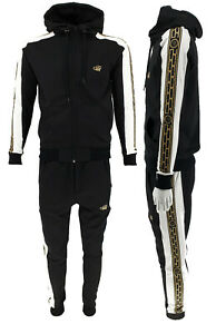 Mens TIM Designer Premium Side Tape Tracksuit Zipper Hoodie Joggers 2pcs Set