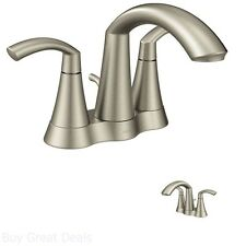 Commercial Bathroom Sink Faucets Brushed Nickel Two Handle Transitional Style
