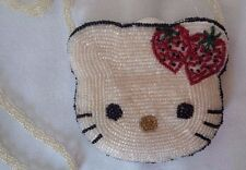 HELLO KITTY Vintage Beaded Purse/Coin Purse With Shoulder Strap