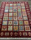 Handmade Pakistani New Four Seasons Oriental Rug, Burgundy & Jewel Tones, 5x7